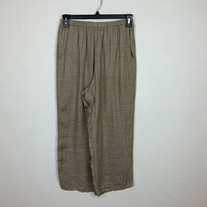 Flax Tan Linen Pants Size Small
